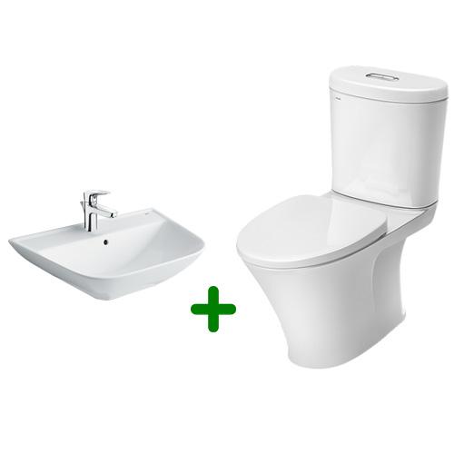 Combo bồn cầu Inax AC-700VAN và lavabo treo tường L-297V
