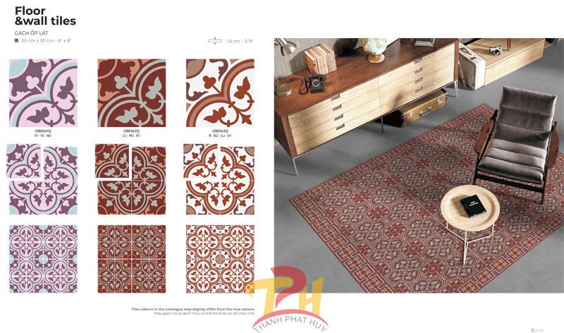 Khái niệm về gạch bông Đồng Tâm cổ điển trang trí hỗ trợ thiết kế