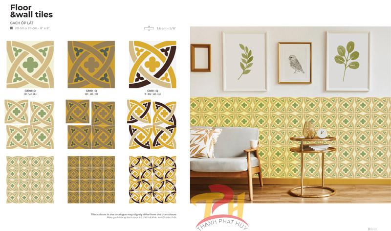 Ý tưởng thiết kế với gạch bông Đồng Tâm trang trí uy tín tại TpHCM