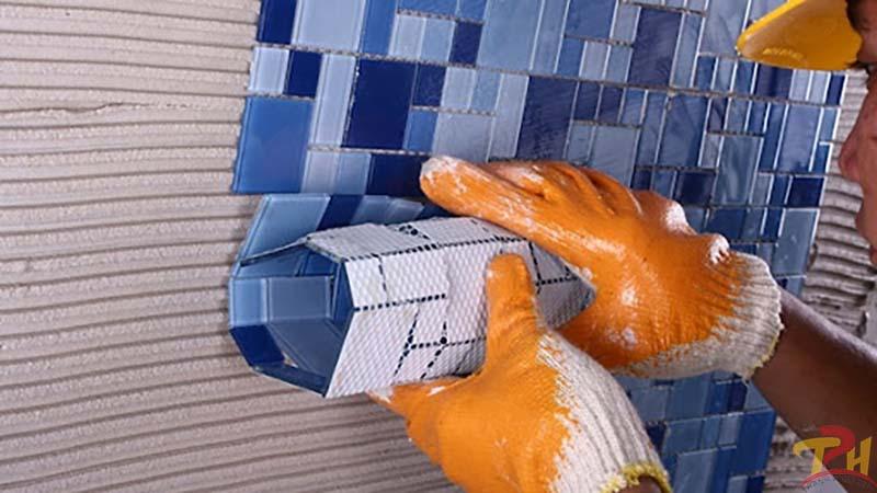 keo dan gach mosaic